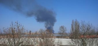 В Николаеве на территории 61 завода что-то горит. Фото