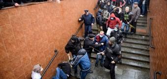 Избиения в Харьковском метро. Видео