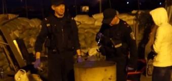 На одесский блок-пост бросили гранату. Видео