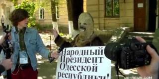 В Одессе возле психбольници выбрали «народного президента». Видео