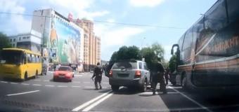 В Донецке произошло нападение на автобус ФК Шахтер. Видео