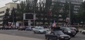 Донецкие шахтеры митингуют и требуют прекратить АТО. Видео