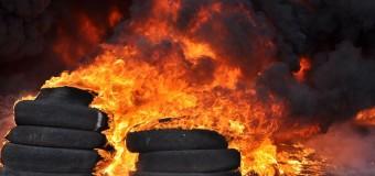 «Уборка» Кличко горит «черным пламенем». Видео