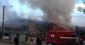 Очередной пожар в Донецке: горел Дворец спорта. Видео