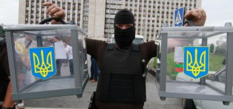В Донецке разгромили урны для голосования. Видео