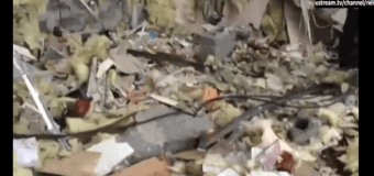 В Краматорске  в ходе обстрела был разрушен магазин. Видео