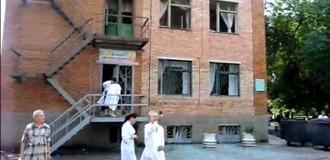 Славянск: Страшные последствия обстрела детской больницы. Видео