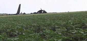 Кадры крушения самолета украинских ВВС. Видео