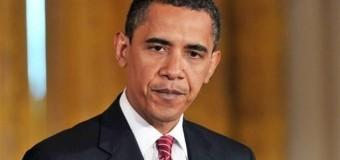 Какой конфуз: У Обамы отвалился герб. Видео