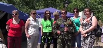Женский блокпост появился на Луганщине. Видео