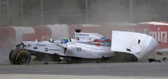 На Формуле-1 произошла страшная авария. Видео
