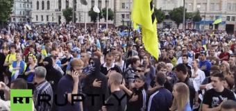 В Харькове милиция разогнала активистов Майдана. Видео