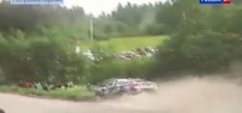На ралли в Карелии автомобиль сбил зрителя. Видео