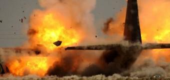 В Луганске сбит ИЛ-76. Видео