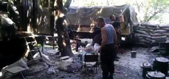 Славянск: Результаты обстрела ополченцами горы Карачун. Видео