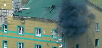 Луганская погранзастава после боя. Видео