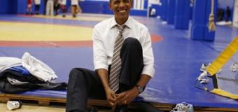 Тайная съемка Барака Обамы в «качалке». Видео