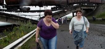 В Донецкой области взорвали ж/д мост с грузовым составом. Видео