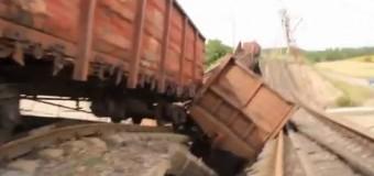 На Луганщине подорвали еще один железнодорожный мост. Видео