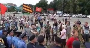 Майдан против Антимайдана в Харькове. Видео