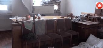 Горсовет Славянска после ухода ополченцев. Видео
