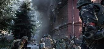 Украинские силовики взорвали в Славянске здание СБУ. Фото
