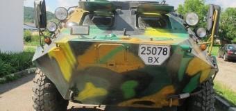 Гуцул подарил личный БТР батальону «Айдар» в Луганске. Видео