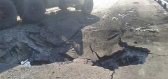 Как выглядит после взрыва мост через Северский Донец. Фото