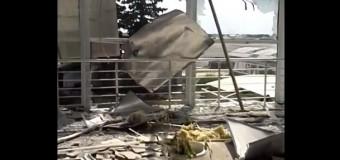Разрушения луганского аэропорта глазами очевидца. Видео