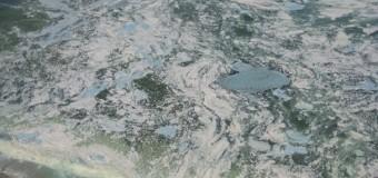 На Черкащине вода в Днепре начала «шипеть». Видео