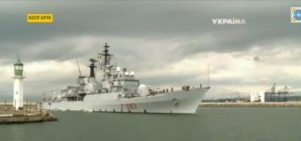 НАТО отправляет в Черное море новые корабли. Видео