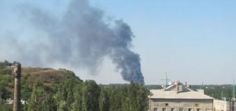 Донецкий аэропорт в огне. Видео