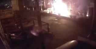В Кировограде сожгли украинское патриотическое кафе. Видео