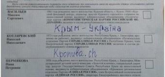 Слава Украине по-крымски: Испорченные бюллетени. Фото