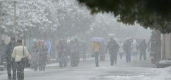 Сегодня Ивано-Франковск занесло снегом. Фото