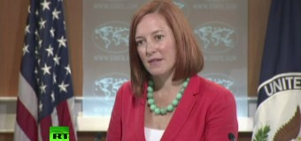 Псаки и США не владеют информацией о ходе расследования обстоятельств массовых захоронений под Донецком. Видео