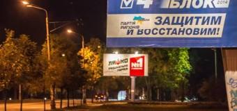 Ночью в Киеве неизвестные «подправили» некоторые политические бигборды. Фото