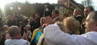 Чем похвастался Порошенко после возвращения из Милана. Видео