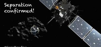 Впервые за всю историю Зонд Philae сел на комету. Видео