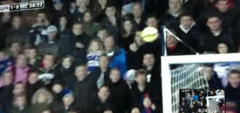 Футболист «Манчестер Сити» попал мячом в голову ребенку на трибуне. Видео
