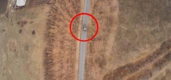 Беспилотник ВСУ «охотится» за танком сепаратистов. Видео