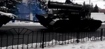 В Донецке военная техника ДНР оказалась участником ДТП. Видео