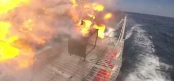 Военно-морские силы США показали лазерную пушку в действии. Видео