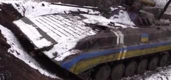 Бойцы АТО показали свои позиции в районе Дебальцево. Видео