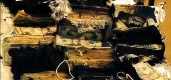 В США миллион долларов сгорел в грузовике. Фото