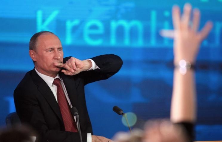 На пресс-конференции у Путина сломался переводчик. Видео