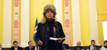 Активистка устроила скандал на презентации бюджета в Киеве. Видео