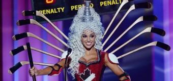 «Мисс Канада» показала костюм из хоккейных клюшек. Фото