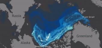 Редкий минутный ролик, как таяли древние ледники Арктики. Видео