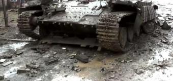 Как выглядит Углегорск после ожесточенных боев. Видео